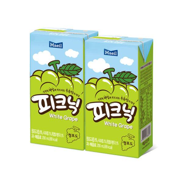 매일 피크닉 청포도 200ml 48팩 /음료수/쥬스/주스 상품이미지