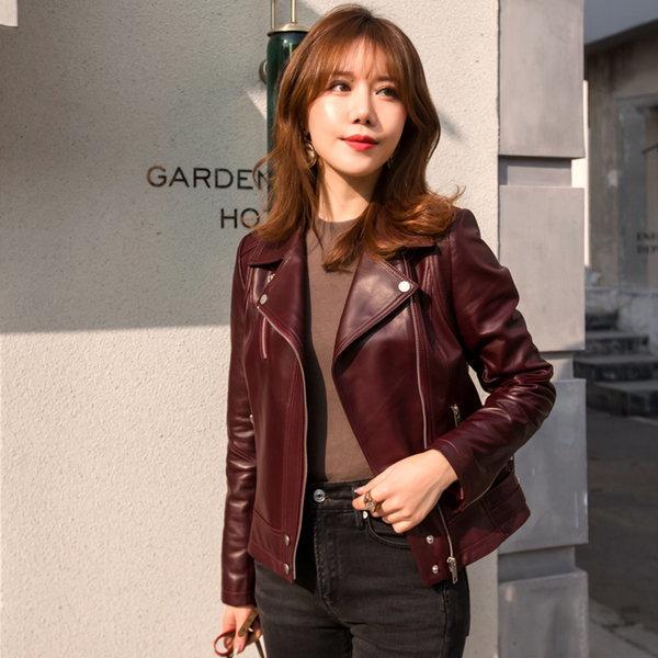 자체제작 신상 리얼 양 가죽 램스킨 라이더 여성 자켓 상품이미지
