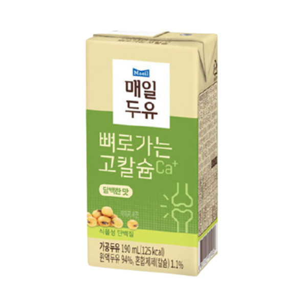 담백한맛 190ml 48팩/두유 상품이미지