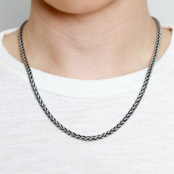 무광유화 실버체인목걸이/은목걸이/로프/스피카/선물 상품이미지
