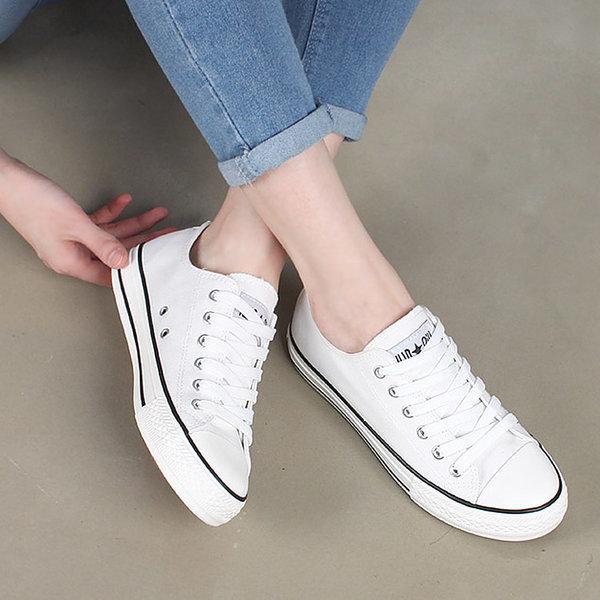 2cm 4color 심플한 여성스니커즈 여자운동화 봄 신발 상품이미지
