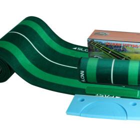 (디자인등록 국산 퍼팅매트) 골프 연습기/30x440cm 홀