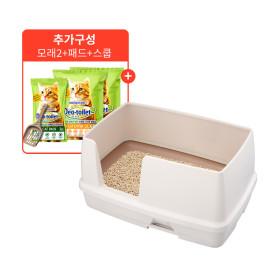 유니참 데오토일렛 고양이화장실 와이드형 셋트