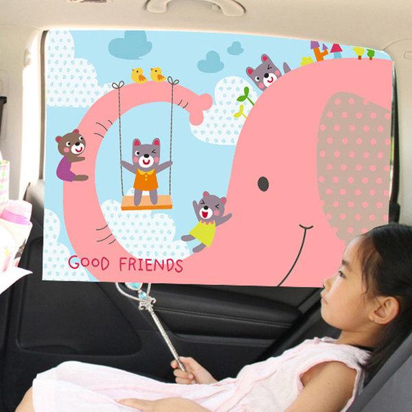 (코끼리) 유아 커튼 햇빛가리개/차량용/자동차/카 상품이미지