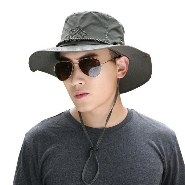 로프장식 벙거지모자/등산모자/정글 남자 낚시 썬캡 상품이미지