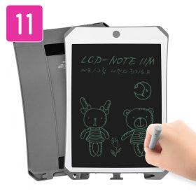 LCD-NOTE11M 전자노트 부기보드 자석부착기능(그레이)