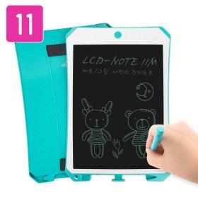 LCD-NOTE11M 전자노트 부기보드 자석부착기능(민트)