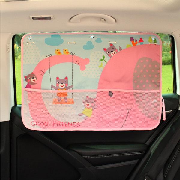 (코끼리) 수납 유아커튼 햇빛가리개/차량용/자동차 상품이미지