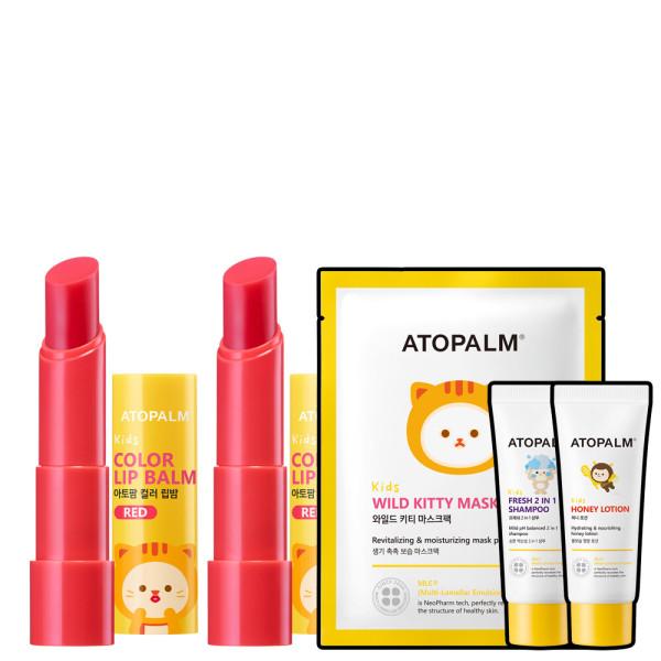 아토팜 키즈 컬러 립밤 레드 3.3gx2개 (파6) 상품이미지