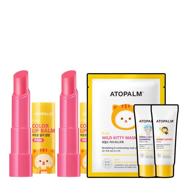 아토팜 키즈 컬러 립밤 핑크 3.3gx2개 (파6) 상품이미지