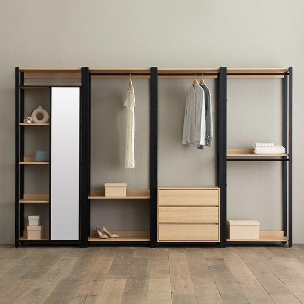 상일리베가구 아이언 드레스룸 3200 거울서랍 일자형 상품이미지
