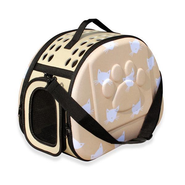 엔터펫 강아지 고양이 가방 EVA 숄더 캐리어 (베이지) 상품이미지
