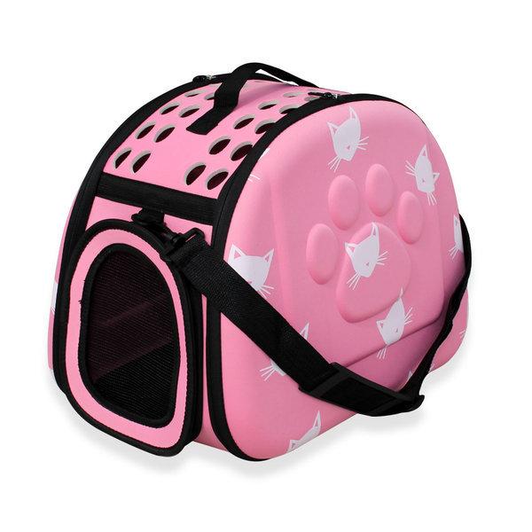 엔터펫 강아지 고양이 가방 EVA 숄더 캐리어 (핑크) 상품이미지