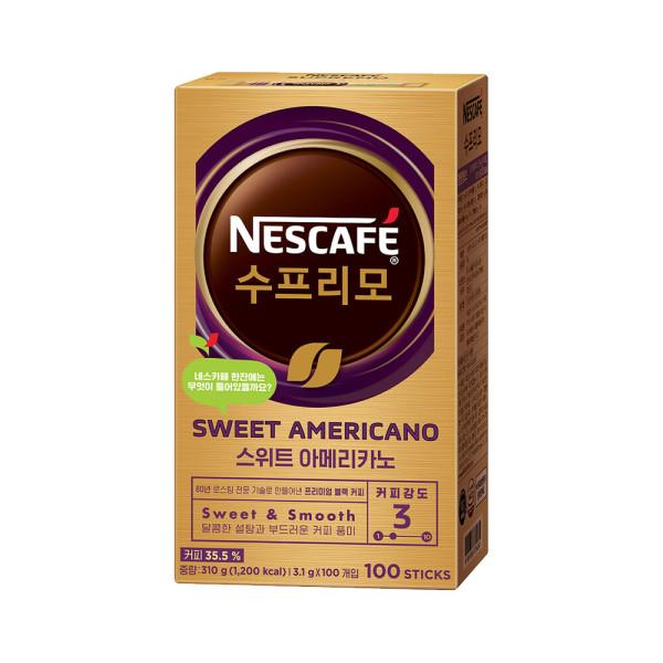 네스카페 수프리모스위트아메리카노 3.1g 100T 상품이미지
