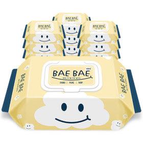BAEBAE(베베) 아기물티슈 PURE 50gsm 캡형 100매 10팩