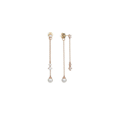 LPSH4007G/Two Way/Pearl/14K/Gold/Earrings/Love/Blossom