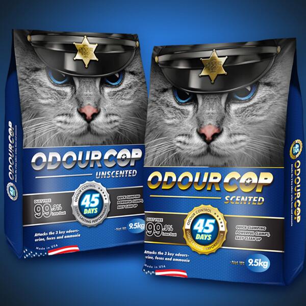 오더캅 ODOUR COP 슈퍼프리미엄 고양이모래 9.5kg 2개 상품이미지