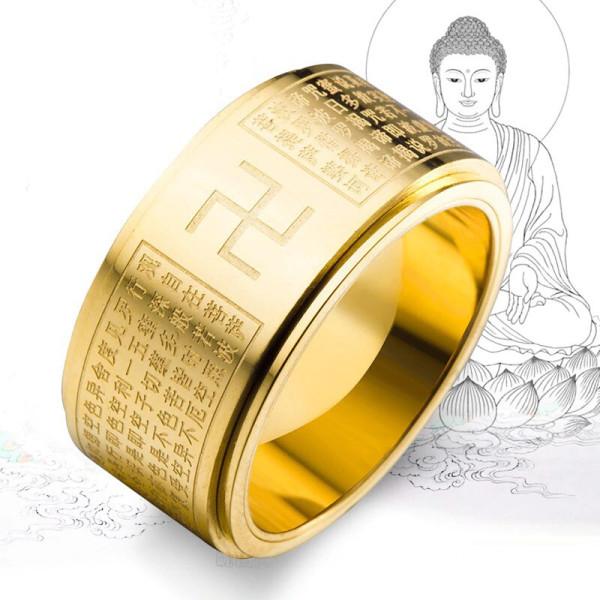 불교 반야심경 반지 STR306 남자 티타늄 써지컬스틸 상품이미지