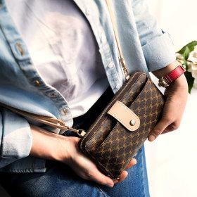 핸드폰 수납 장지갑 크로스백 손가방 여성 지갑 W741