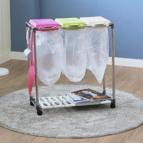 가정용 재활용 분리수거함 3P / 휴지통 쓰레기통