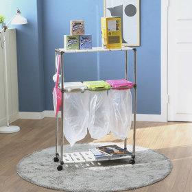 가정용 재활용 분리수거함 3P2단 / 휴지통 쓰레기통