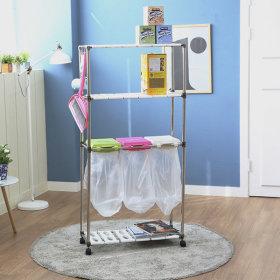 가정용 재활용 분리수거함 3P3단 / 휴지통 쓰레기통