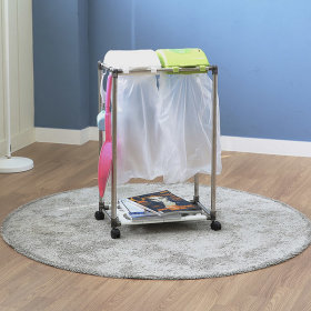 가정용 재활용 분리수거함 스윙2P / 휴지통 쓰레기통