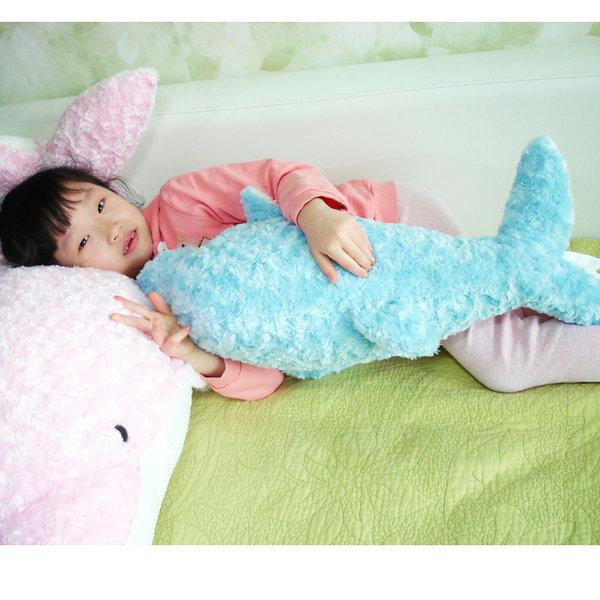애착인형 핑크돌고래 소 /인형쿠션 해피돌고래/소 핑크 상품이미지