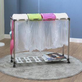 가정용 재활용 분리수거함 스윙4P / 휴지통 쓰레기통