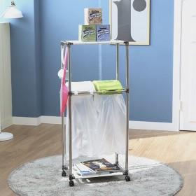 가정용 재활용분리수거함 스윙 2P2단/휴지통 쓰레기통