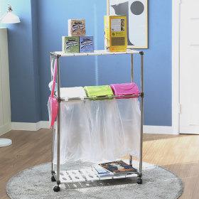 가정용 재활용분리수거함 스윙 3P2단/휴지통 쓰레기통