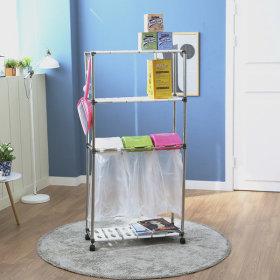 가정용 재활용분리수거함 스윙 3P3단/휴지통 쓰레기통