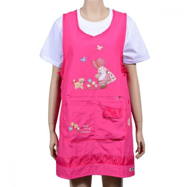 꽃내음 소녀 자수 디자인 활용도 높은 포켓주머니 앞 상품이미지