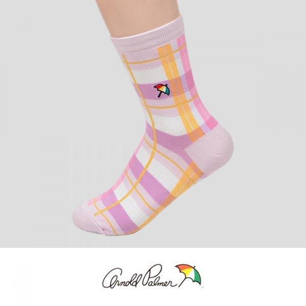 입체라인 스퀘어 패턴 아소트 로고자수 숙녀 중목 양 상품이미지