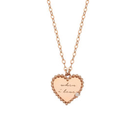 LNN19018G Lloret Heart When I Love 14K Necklace