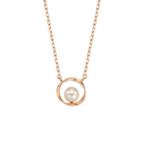 LNT19007T/Circle/Pearl/10K/Necklace