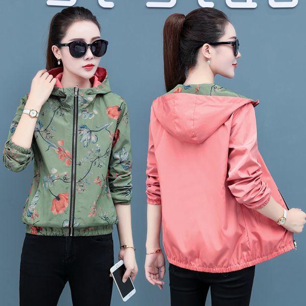 여성 봄 가을 점퍼 숏 코트 바람막이 야상 자켓AO63 상품이미지