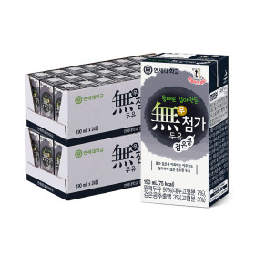 연세두유 무첨가 검은콩 두유 48팩