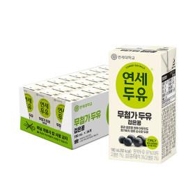 연세두유 무첨가 검은콩 두유 24팩