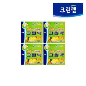 위생비닐백/ 크린랩 컴팩트 크린백 (소 100매 x 4P)