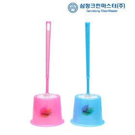 변기솔세트3호(색상랜덤) 청소솔 변기청소 변기솔