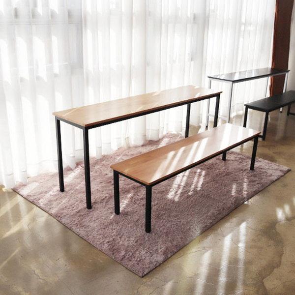 고무나무 네추럴 원목 홈바테이블 카페 베란다 식탁 상품이미지