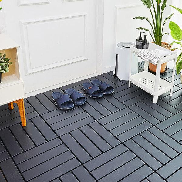 DIY 조립식 데크타일 마루 바닥재 18p (3color) 상품이미지