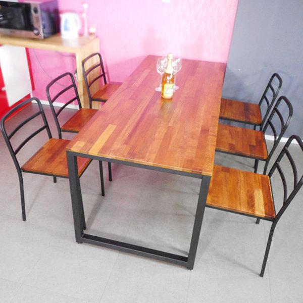멀바우 원목 식탁테이블 베란다 카페 홈바 입식 티 상품이미지