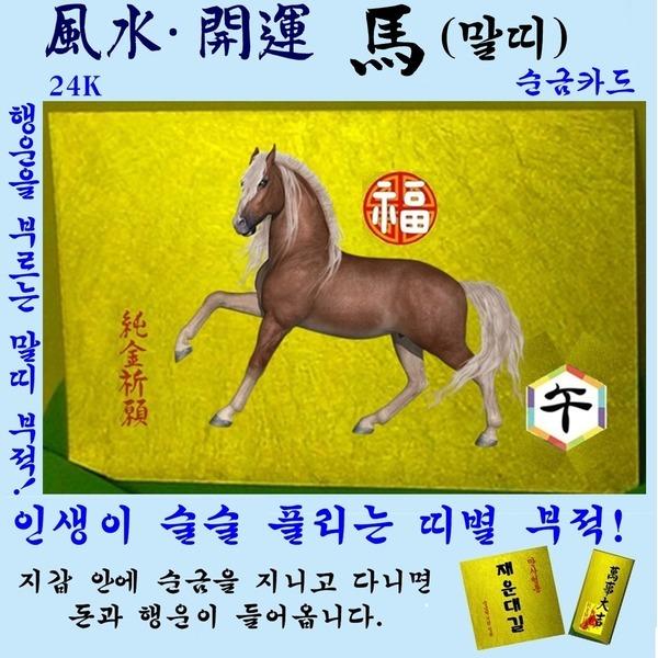 1+1/순금카드/말띠부적/휴대/행운선물/소원성취/풍수 상품이미지