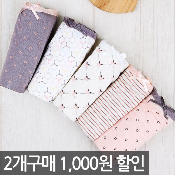 특가5매5900원 여성팬티/여자/위생/요일/속옷쇼핑몰 상품이미지