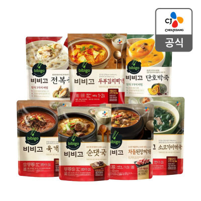 Bibigo Yukgaejang 500g x 5pcs/Sundaetguk/Abalone Porridge and 27 others