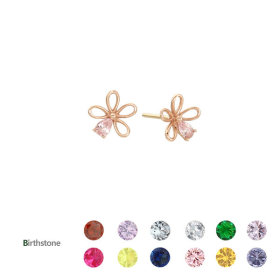 LPTG4005T/Flower/Birthstone/10K/Earrings