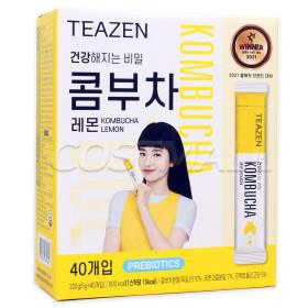 TEAZEN KOMBUCHA Lactobacillus Drink Lemon Stick 30pcs+Water Bottle Giveaway