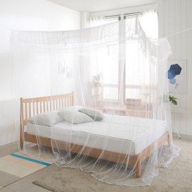 사각모기장 고급형(대)커튼 캐노피 방충망 텐트 침대